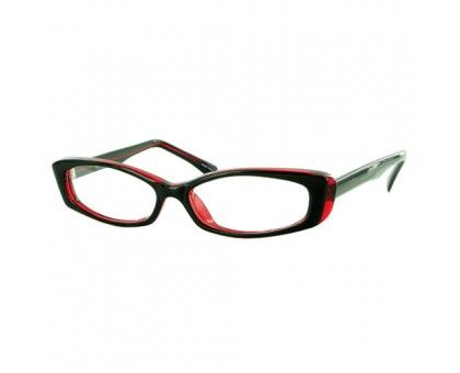 Burgundy rectangular glasses for a trendy, fun look! Soho 44 Frames from EyeglassFactoryOutlet.com
