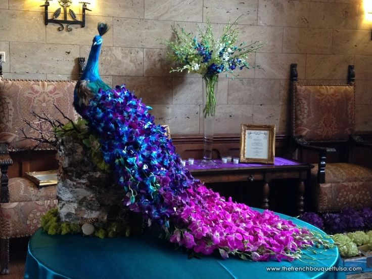 Peacock Wedding Floral Architecture - Photo By The French Bouquet