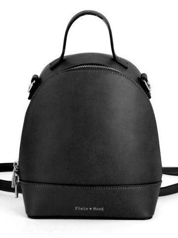 Cora Backpack Small - Black | A cute, mini pack that converts into a crossbody purse! Designed in Markham, Ontario and made of 100% vegan leather. #torontofashion #CanadianDesigners #canadianfashion #canadianfashionblogger #canadiandesigner #canadianbrands #veganleather #veganfashion #crueltyfree #pixiemood #pixiemoodbag #vegantotes #backpack #veganpurse #purse #convertiblebag #convertiblebackpack #crossbodybag #crossbodypurse #crossbodyshoulderbag #springfashion #torontostyle
