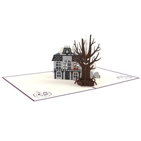 Haunted House greeting card -  Lovepop