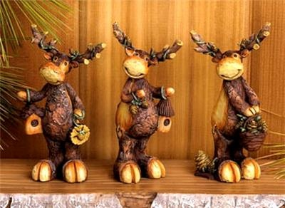 Perfect For A Lodge Cabin Or Other Rustic Décor These Moose Figurines Make