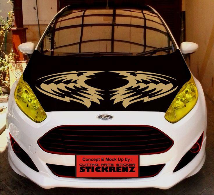 Car Custom Hood Cutting Sticker Concept - Fiesta 008