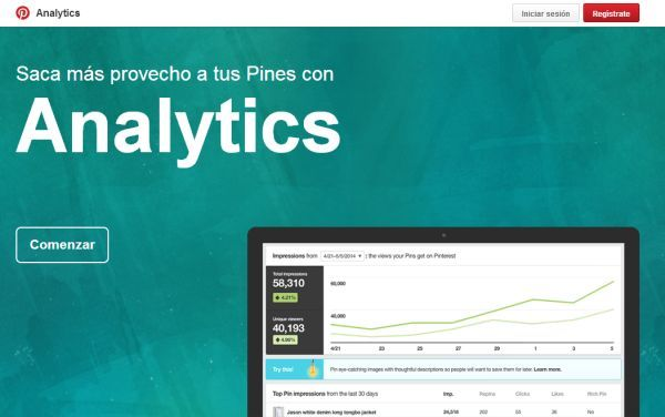Nueva herramienta analítica para empresas en #Pinterest Visítanos: www.belenruizbeato.com