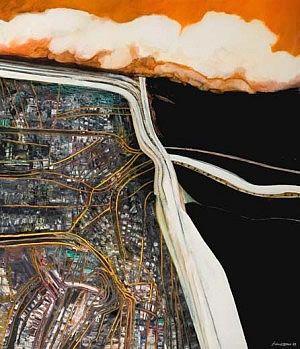 robert ellis motorway paintings