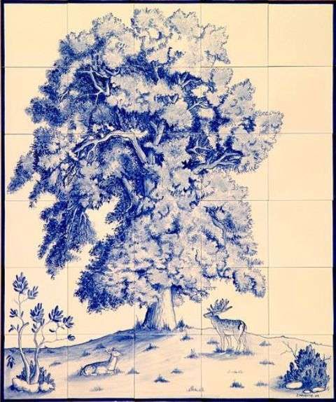 17 best images about ceramic tiles on pinterest ceramics for Delft tile mural