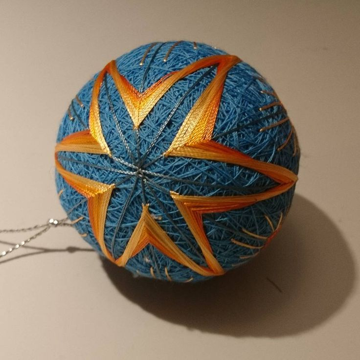 """2 Likes, 1 Comments - Raluca Ioana Simonffy (@ralucamorena) on Instagram: """"#hot #star #temari #ball soon to be for sale on my #etsy #shop #misscraftysgoodies #xmasdecorations…"""""""