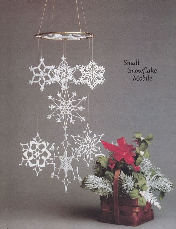 Awww, I need to learn how to crochet.  This is kitchy but I love it!  Cascading Snowflake by PaperButtercup