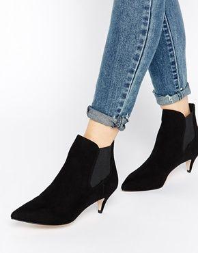ASOS REDCHURCH Kitten Heel Ankle Boots