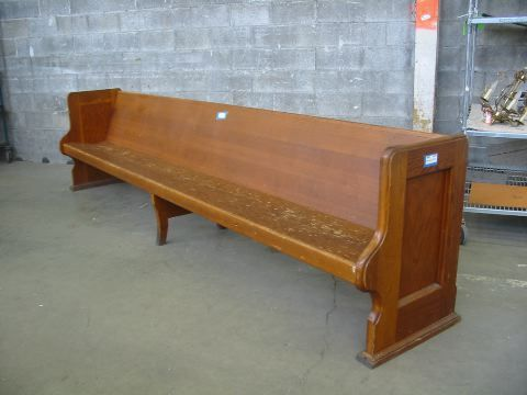 Second Use Seattle >> Fir Church Pew | Second Use, Seattle: Building Materials, Salvage, & Deconstruction | Making a ...