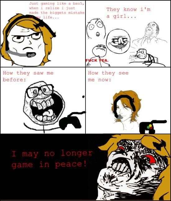 Female gamer problems