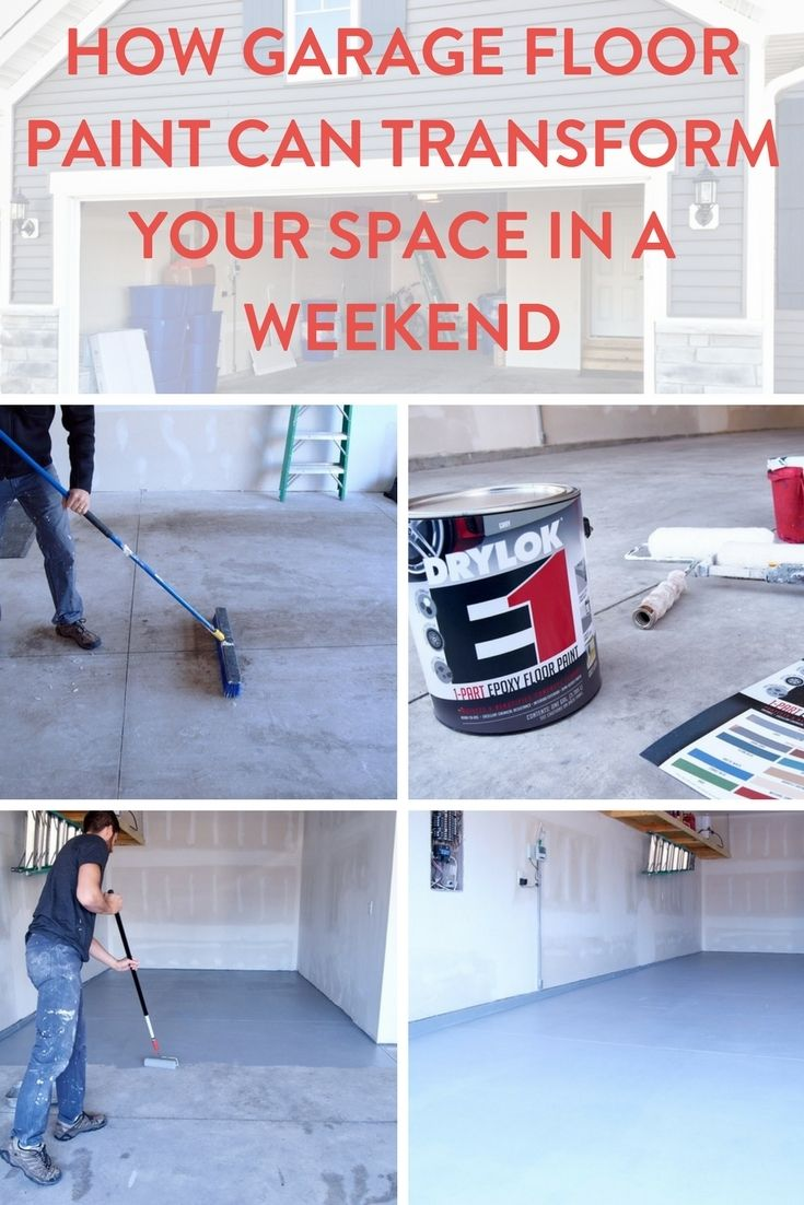 How Garage Floor Paint Can Transform Your Space In A Weekend Garage Floor Paint Garage Floor Painted Floors