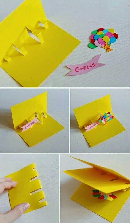 Tarjeta de cumplea os manualidades pinterest - Como hacer un cumpleanos original ...
