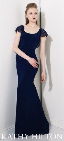 Siyah uzun abiye modeli,  Kathy Hilton abiye