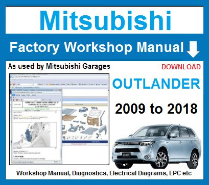 Mitsubishi Outlander 2009 to 2014 Workshop Repair Service ...