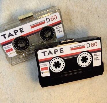 Venta caliente caja de casetes de cinta transparente de tarde del bolso de embrague de acrílico duro embrague de gama alta bolso de mano pequeño bolso del partido bolsos