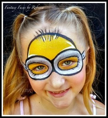 Face Painting, Minion, Fantasy Faces by Rebecca - Face Painting Gallery - Seal Beach, CA