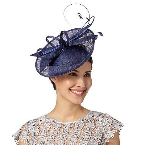 J by Jasper Conran Designer navy dipped crown saucer fascinator- at Debenhams.com