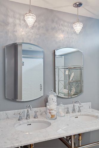 Neutral bathroom design - such an elegant look!