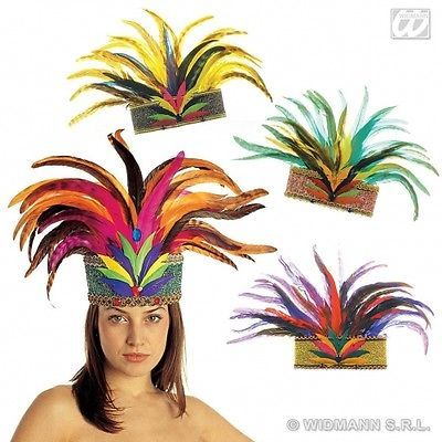 Rio De Janeiro Feather Crown Hat for South American Brazil Brasilian Carnival Fa in Clothes, Shoes & Accessories,Fancy Dress & Period Costume,Accessories | eBay