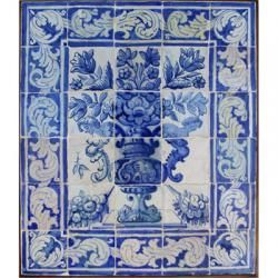 8011 Portuguese antique tiles mural XVII
