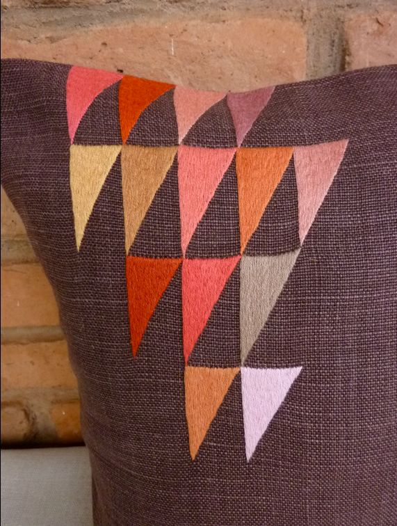 Cushion for the famous Hôtel mille Collines in Kigali Rwanda. Hand made in our workshop