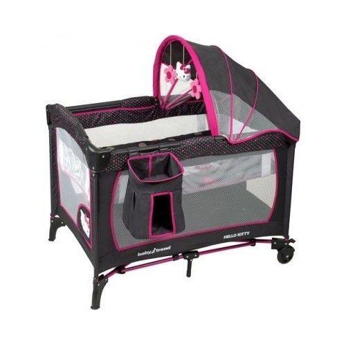 Hello Kitty Baby Bed Bassinet Travel Nursery Canopy Storage Pack N Play Yard New Hello Kitty