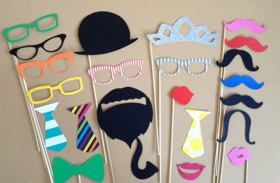 Super Fun PHOTO BOOTH PROPS Set Of 23 by CreativeButterflyXOX, $28.00
