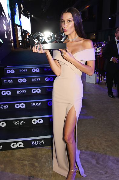 Bella Hadid winner of the HUGO BOSS Model of the Year award attends the GQ Men…
