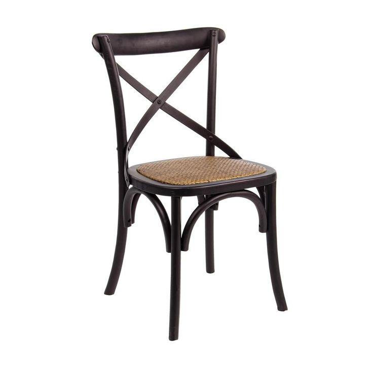 Cross Stuhl schwarz von #Bizzotto  ab 166,00 € Das klassische Design sorgt für ein tolles Ambiente und passt mit seinem Designwunderbar in jeden Raum.  #Massivholzmöbel #Vollholzmöbel