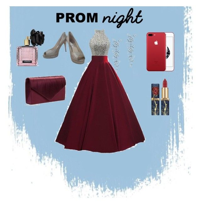 """Prom Maroon Women Fashion"" by saffaatun on Polyvore featuring Michael Kors, Tiffany & Co. and Victoria's Secret"