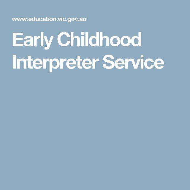 Early Childhood Interpreter Service