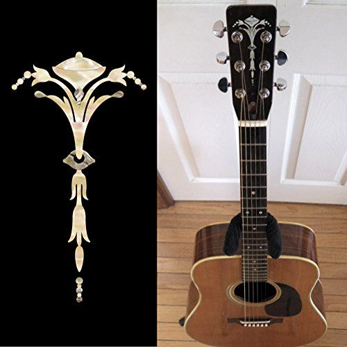 Inlay Sticker Decal Guitar Headstock In MOP Theme - 5.95$