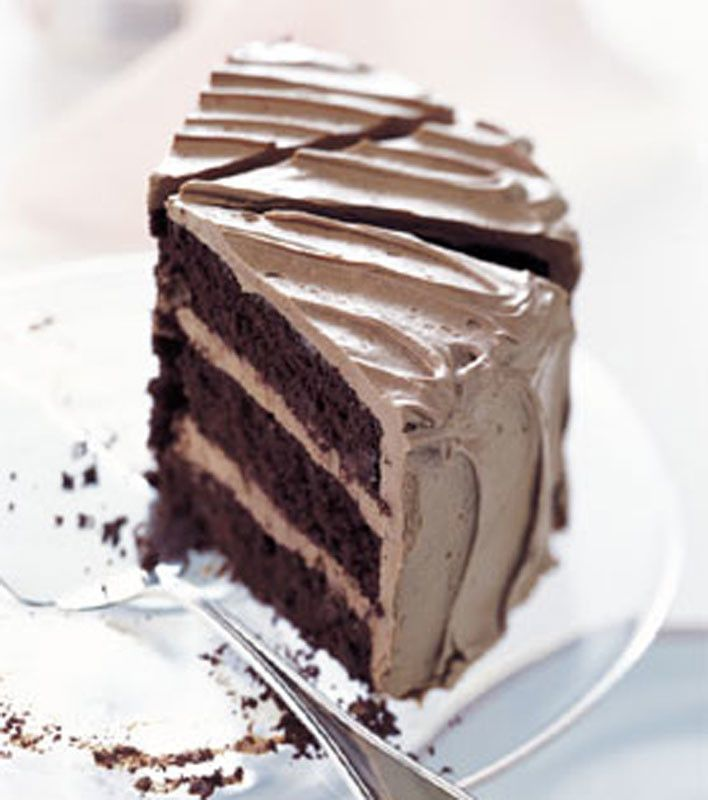Chocolate Cake with Caramel-Milk Chocolate Frosting | (Chocolate, my ...