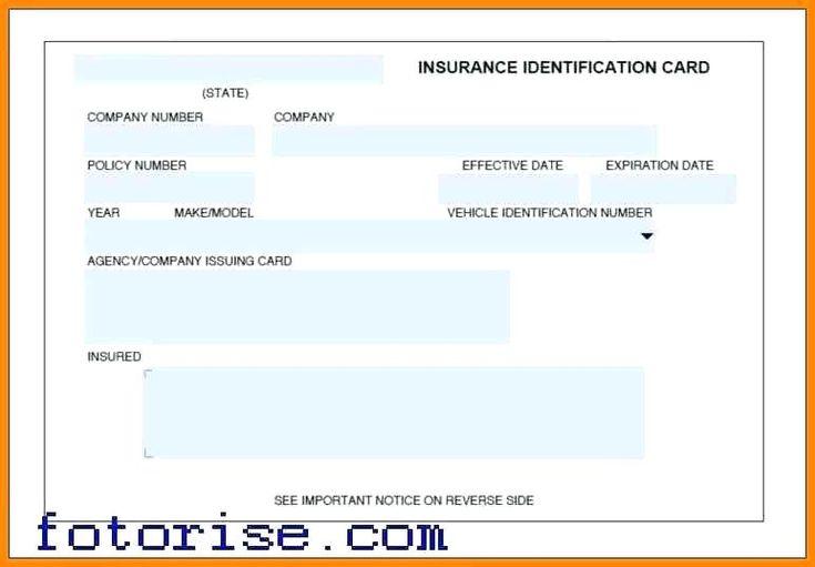 Auto insurance card template progressive id cards car free