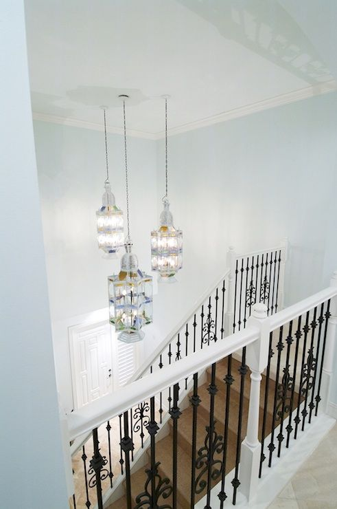 Terri Pakravan: Designed by Terri Pakravan   Moroccan lanterns, seagrass stair runner, white door, ...