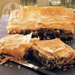 Griekse spinaziepastei @ allrecipes.nl
