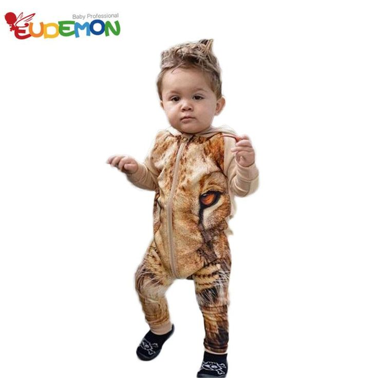 [Eudemon] новые Детская Одежда Мода Стиль Лев Ребенок Мальчик Одежда С Длинным Рукавом С Капюшоном Мальчик Комплект Одежды Осень Зима Ребенок Набор