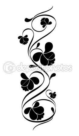 Retro floral pattern for design. Vector illustration.