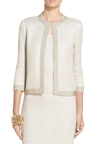 Sequined Allure Knit Jacket | St. John Knits