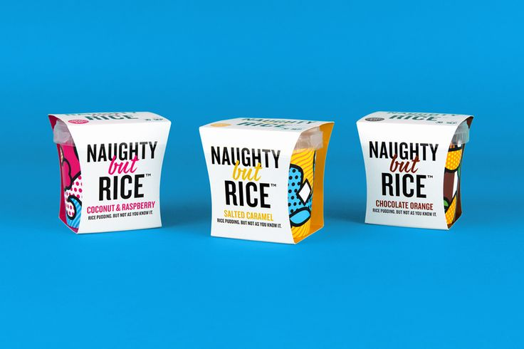Naughty But Rice by Robot Food #graphic #design #packaging