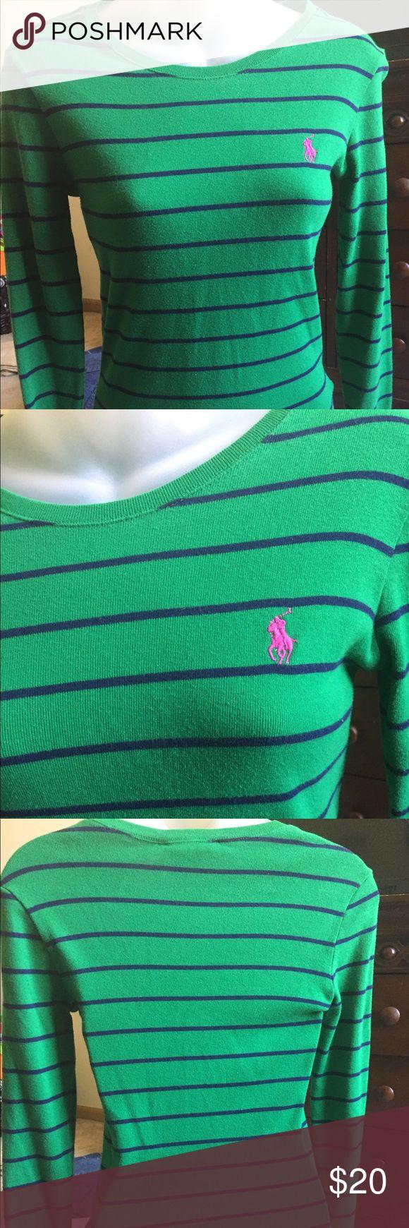 Green woman's polo shirt Long sleeve Polo by Ralph Lauren Tops Tees - Long Sleeve