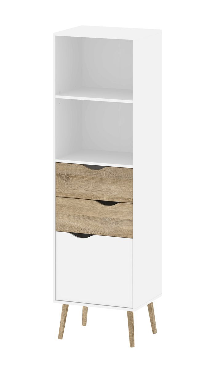 Chateau bookcase walnut leaning bookcase white modern bookcase walnut - Pajaro 67 Standard Bookcase