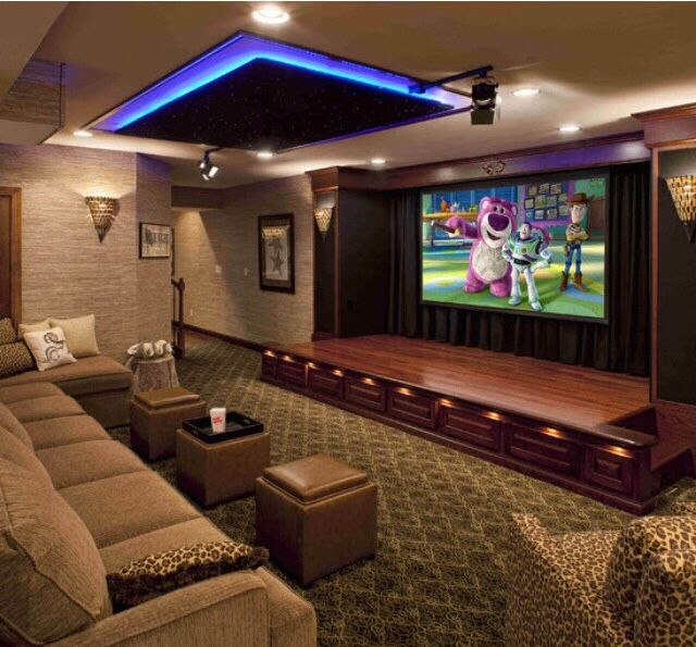 Home Theater Design Available At Clear Audio Design, Charleston, WV. Phone  Nice Accent Lights And Great Idea With The Movie Like Theater Curtains On  The ...