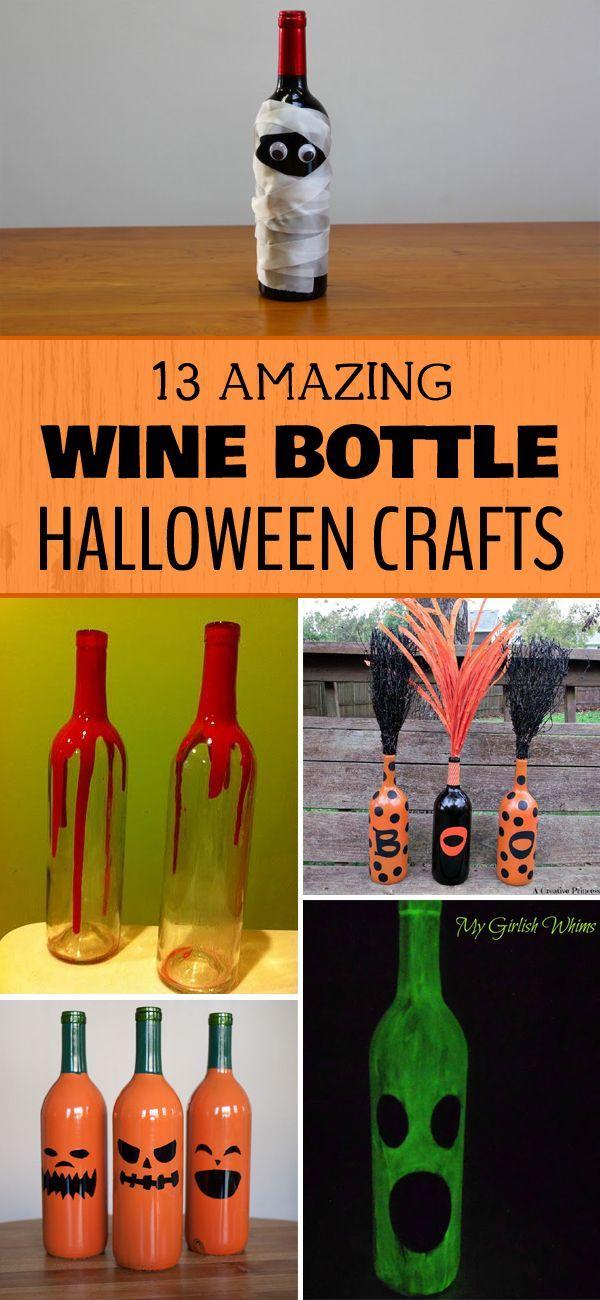 13 Amazing Wine Bottle Halloween Crafts 275