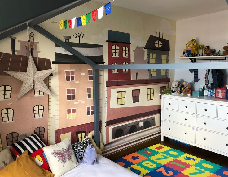 Bebek Odası - Çocuk Odası Duvar Kağıdı - Kreş - Çocuk Yuvası - Okul - 3D Duvar Kağıdı - Genç Odası Takımı - Duvar Dekorasyon | Duvargiydir.com