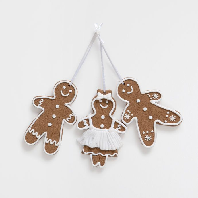 Gingerbread doll-shaped decorations (set of 3) - Decoration Accessories - For the tree - Christmas | Zara Home United Kingdom