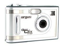 Argus DC1730-GB Digital Camera - Silver. Multifunctional camera with print and shoot technologyProduct InformationThe Argus Digital Camera can be also used as webcam by connecting it to your computer. A sensible solution at an affordable price especially if your kids ask to borrow the camera. This compact and lightweight digital camera offers high-speed USB interface, auto flash modes, viewfinder, and tripod socket. It has 4 MB of built-in memory to store up to 100+ photos and features a...