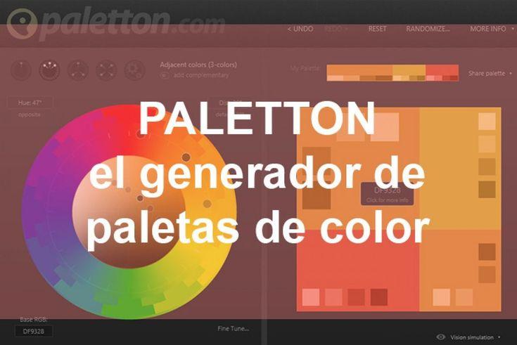 Paletton es un generador de paletas de colores gratuito y online. Ayuda a combinar colores y es muy útil para cuando no sabes qué color usar.  Aprende a combinar colores con Paletton, un generador de paletas de color online y gratuito #paletton #color #colores #diseño #grafico #diseñoGrafico #paleta #paletaColor