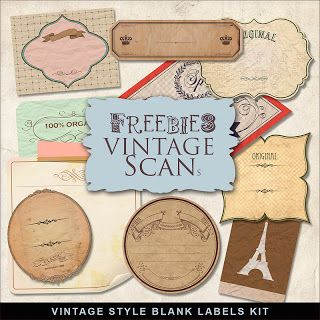 Far Far Hill Free Database Of Digital Illustrations And Papers Freebies Vintage Style Labels In 2020 Scrapbook Printables Vintage Labels Template Printable
