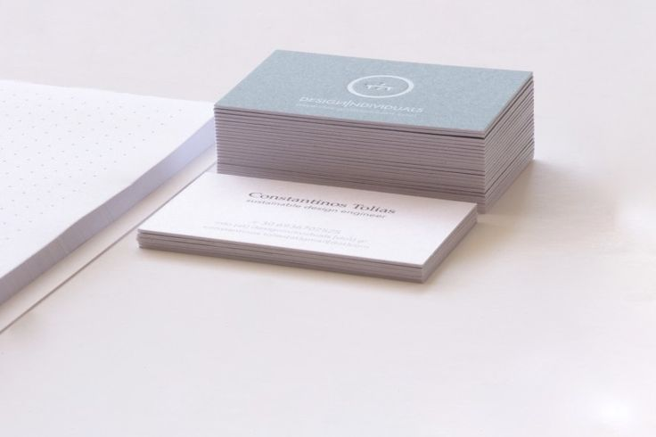 """Self branding for Design Individuals. Our own (600 grams) business cards and custom axonometric notepad! Yes, """"we design for direct impact"""" !"""